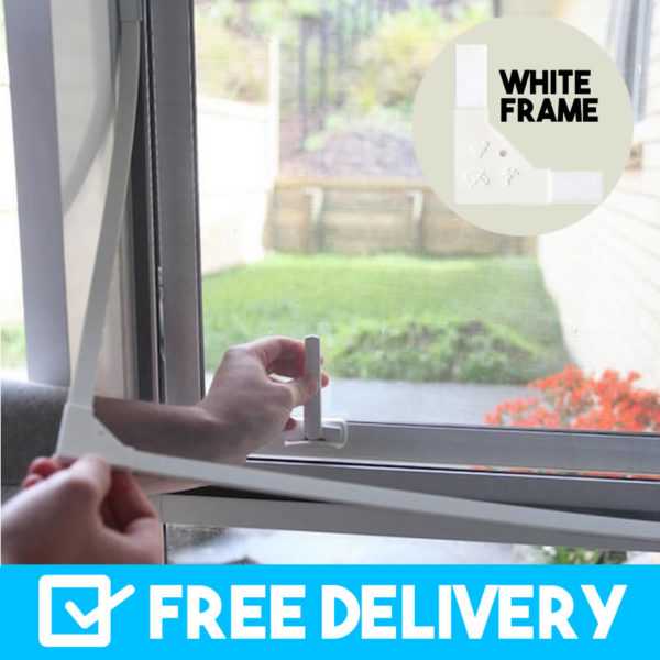 white frame magnetic flyscreens buy online